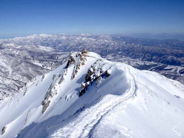 唐松岳 下山