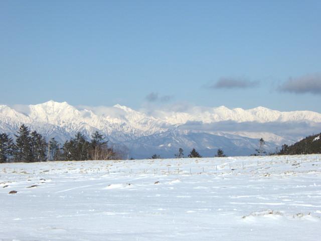 美ヶ原高原 後立山連峰方面