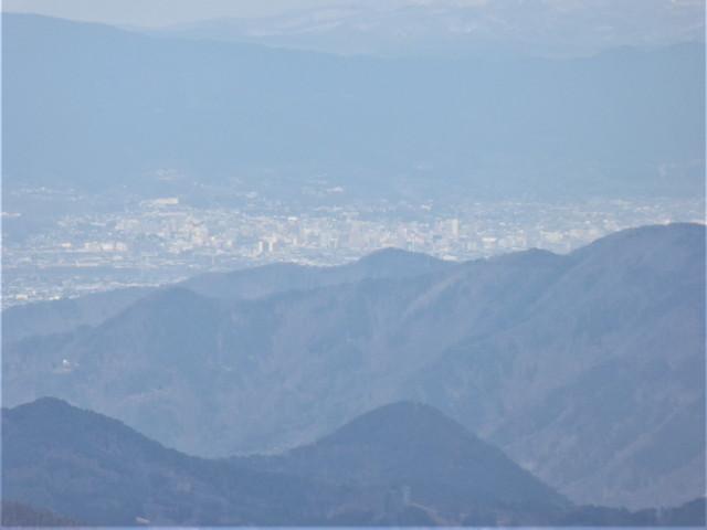 美ヶ原高原からの眺め 長野市方面