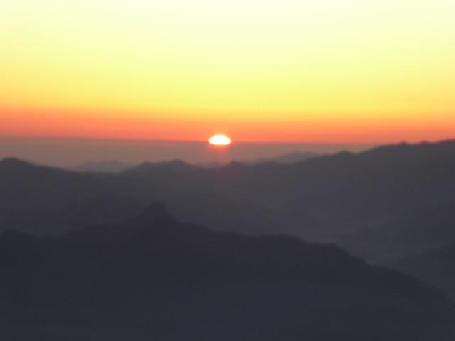 八ヶ岳 天狗岳 厳冬期 夜明け
