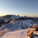 八ヶ岳 天狗岳 厳冬期 山頂からの眺め