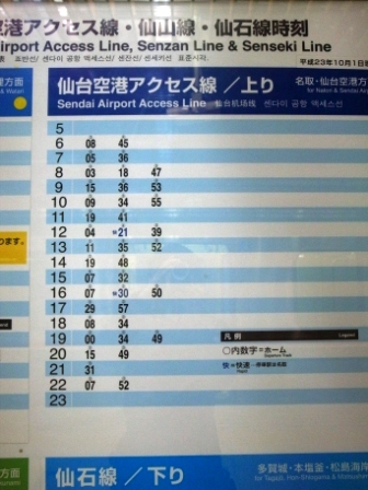 仙台駅 アクセス線 時刻表