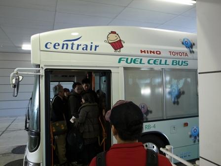 中部国際空港 セントレア 燃料電池バス