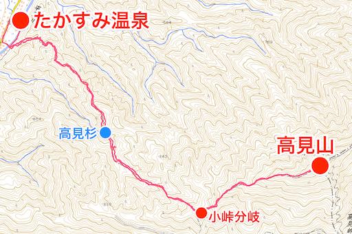 高見山 登山コース図