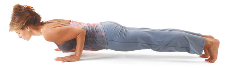 Chaturanga Dandasana image from the article by Yoga International, How to Avoid Shoulder Injuries in Chaturanga and Plank