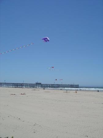 pismo beach pier and beach, california