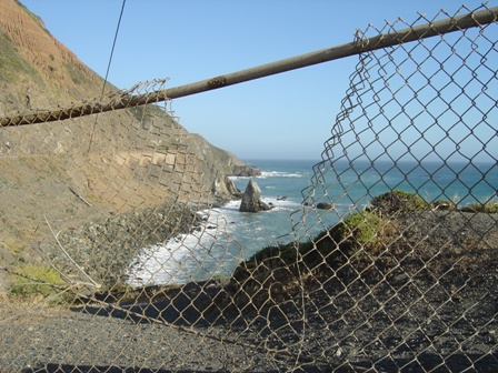 fence along the pacific coast highway