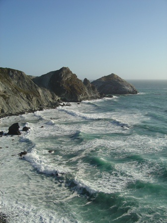 big sur mountains and coastline