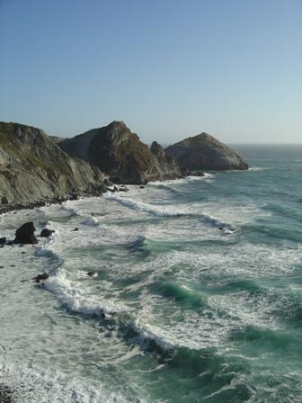big sur mountains and coastline