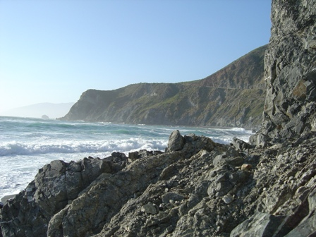 pacific coast highway, rocky beach