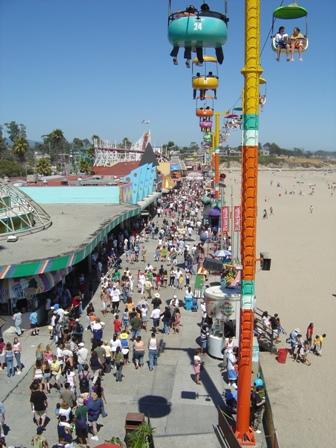 skyride above the boardwalk, santa cruz
