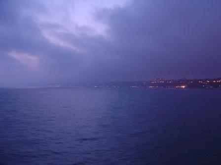 Hazy View of Santa Monica from Pier