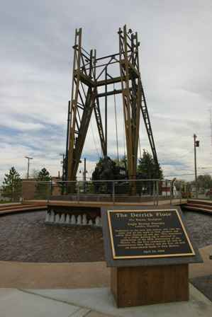 The Derrick Floor monument, Artesia New Mexico