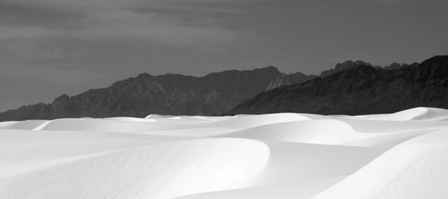 Dunes and Mountains, White Sands National Monument New Mexico