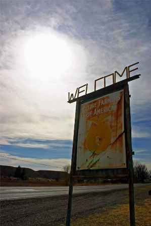 Welcome sign outside Hatch, New Mexico