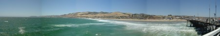 panorama from end of pismo beach pier