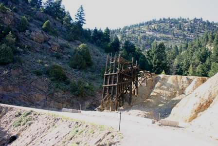 Mining Headframe, Oh My Gawd (God) Road, Idaho Springs, Colorado
