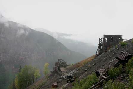 ghost town mine buildings, tomboy, near telluride