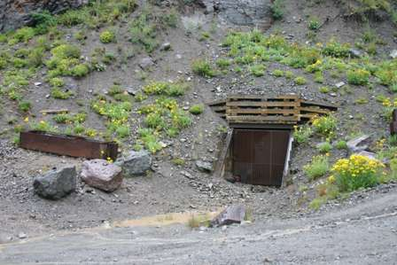 mine entrance along tomboy road