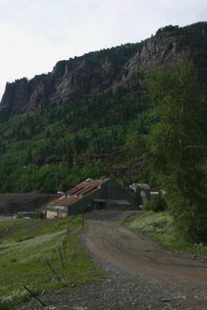 Mining operation near Bridal Veil Falls, Telluride Colorado