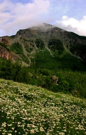 mountain near Bridal Veil Falls, above Telluride Colorado