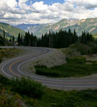 curvy road, Million Dollar Highway