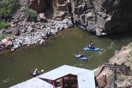 kayak kayakers, royal gorge, arkansas river