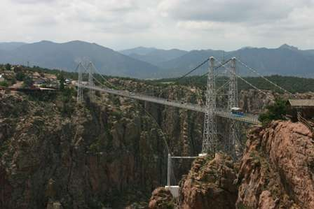 world's highest suspension bridge, royal gorge