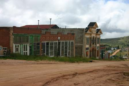 Victor, Colorado streets and old buildings, Masonic Temple