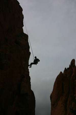rock climbers, garden of the gods, colorado