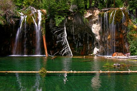Glenwood Canyon Colorado, Hanging Lake Waterfall and Pool