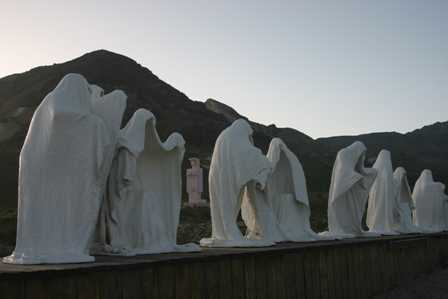 Last Supper Sculpture at Rhyolite Ghost Town