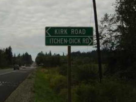 Kitchen Dick Road, Near Sequim, Washington