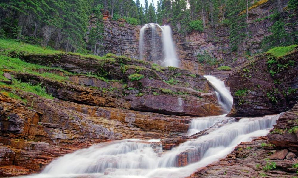 énorme réduction 5889f 3490b Beautiful Virginia Falls, Glacier National Park Hiking ...