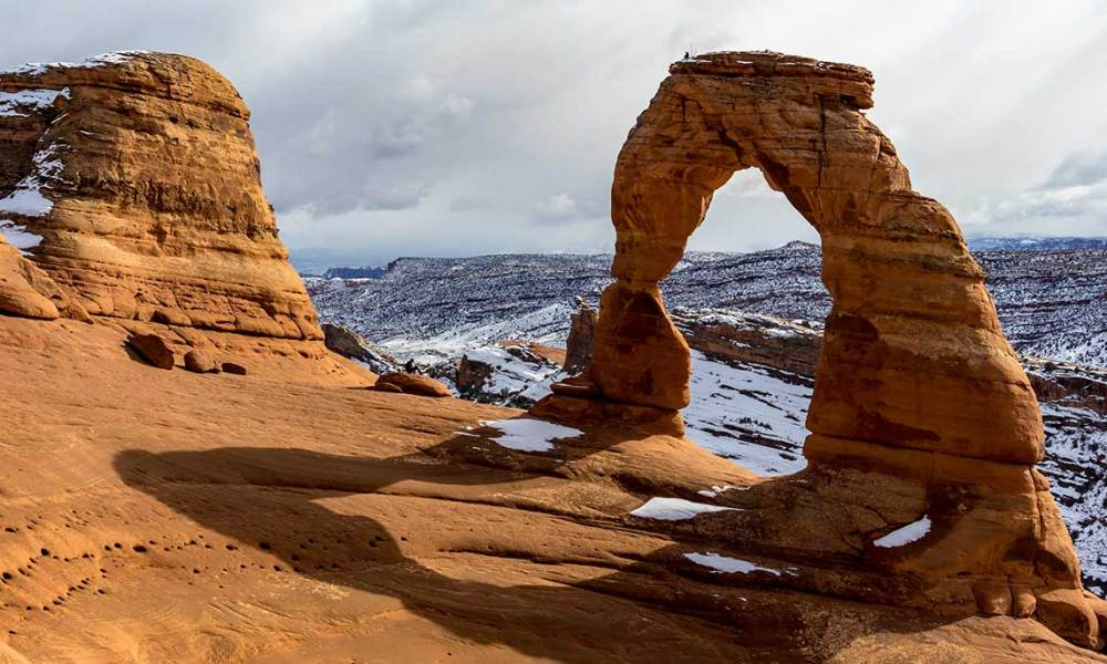 Arches Hike Delicate Arch In Winter Takemytrip Com