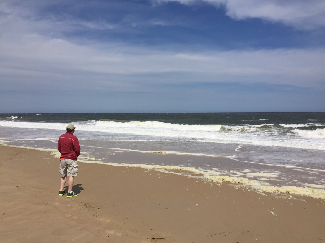 On the beach at Dewy and Rehoboth