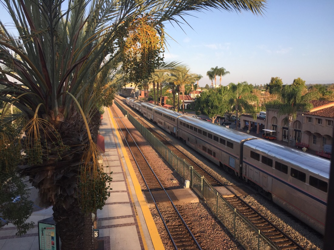 amtrak southwest chief at fullerton station in california