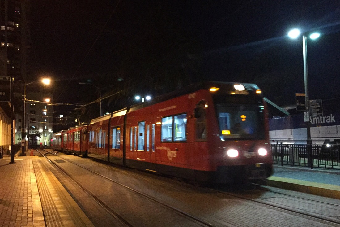san diego trolley at the santa fe depot