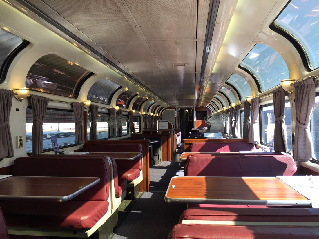pacific parlour car on the amtrak coast starlight