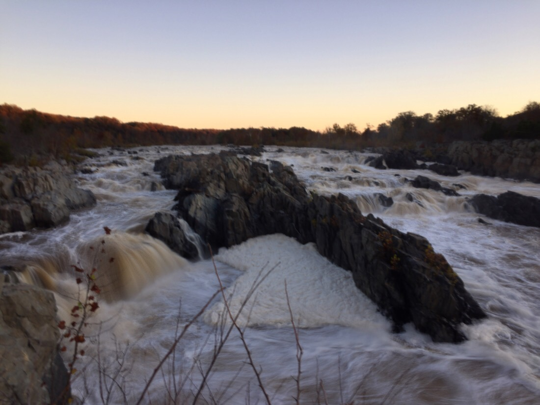 sunrise at great falls park, va