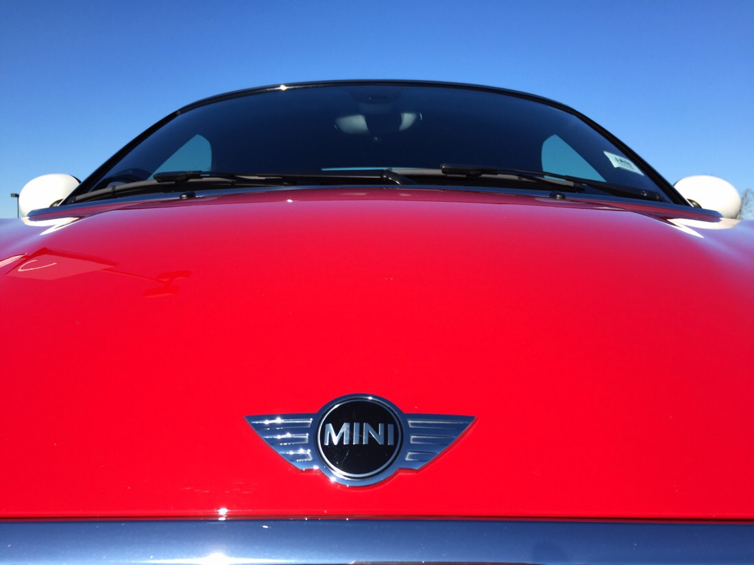 chilli red mini cooper roadster