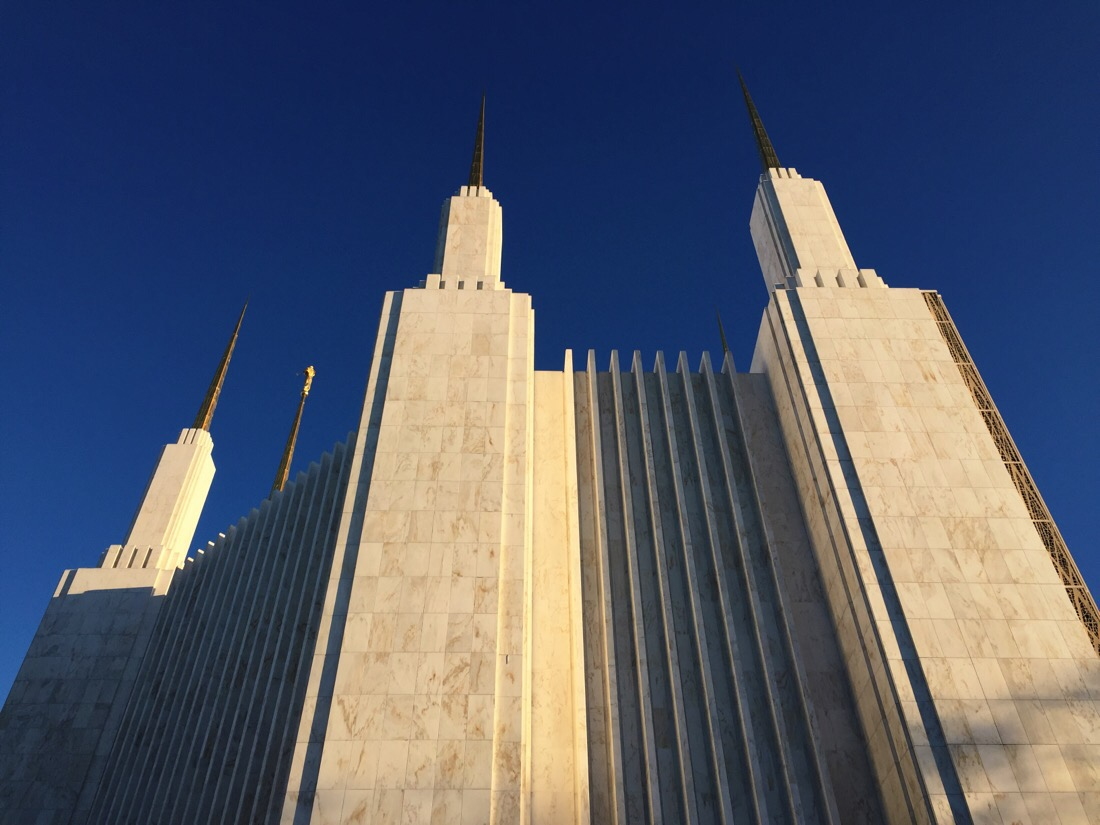 mormon temple at sunset in washington dc