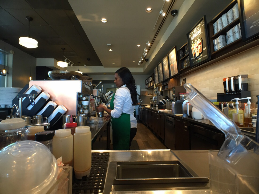 starbucks taken with a moment wide angle lens