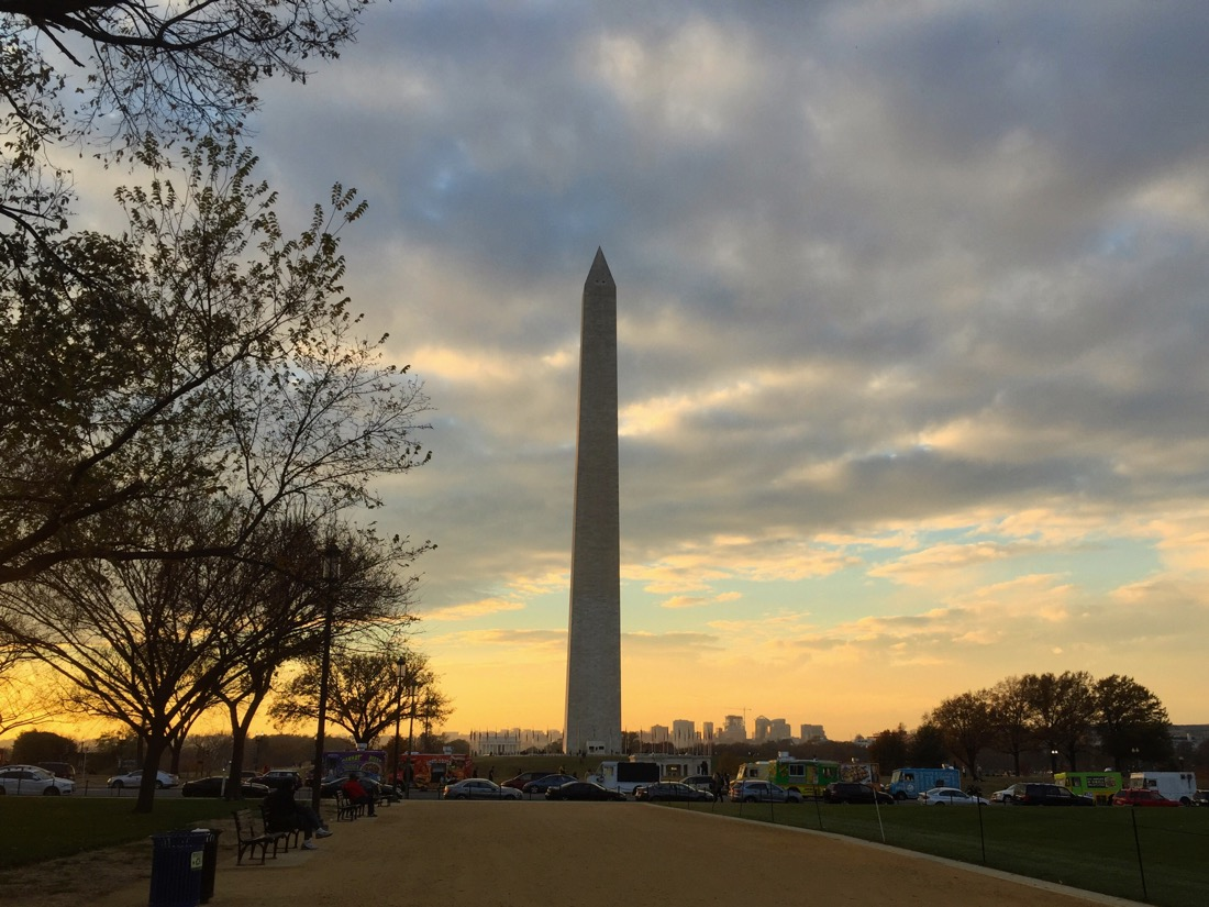 Thanksgiving afternoon on the National Mall in Washington DC