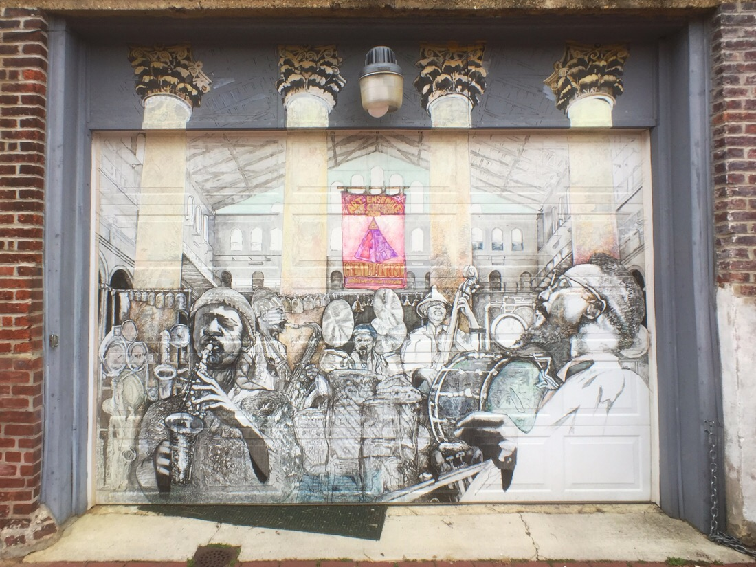 Great Black Music street mural in blagden alley in Washington DC