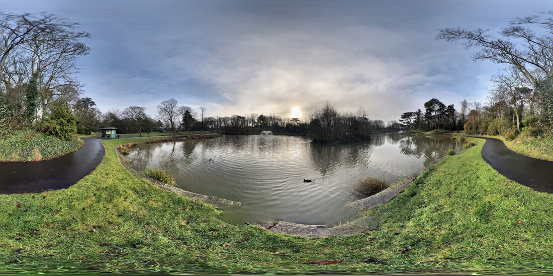 Panoramas taken at Hesketh Park in Southport