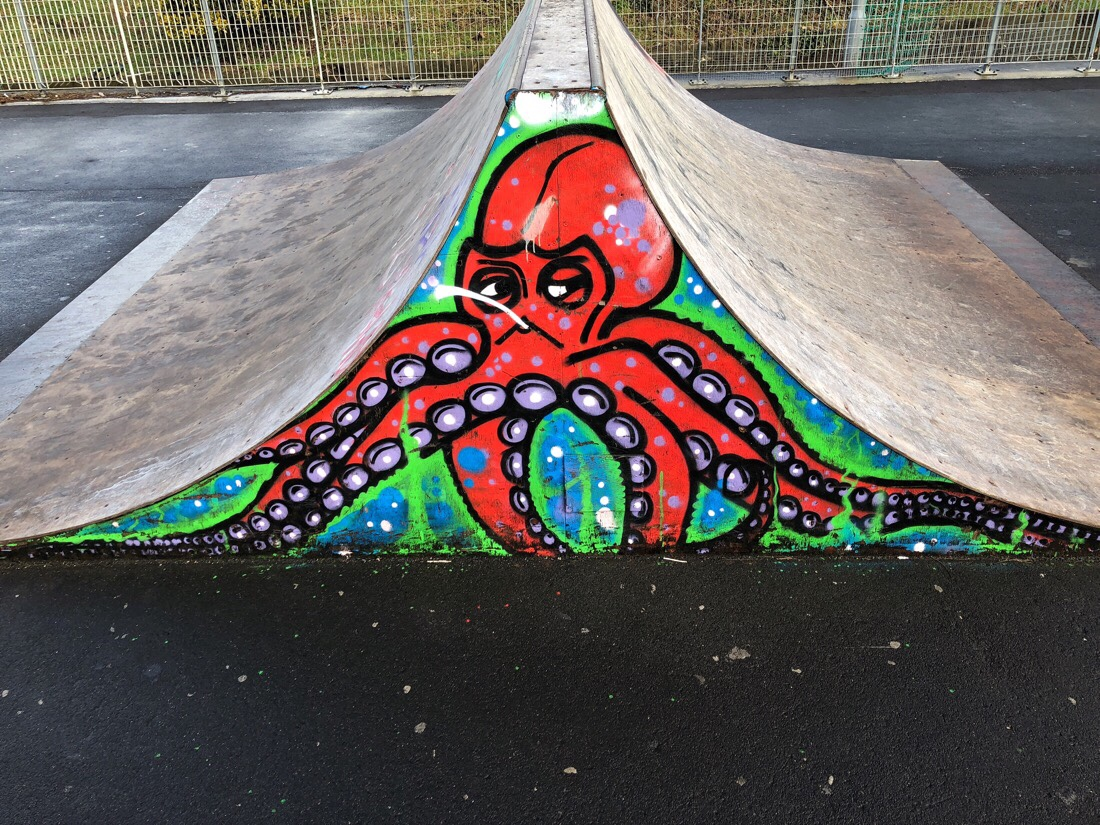 Graffiti art at the skate park in Southport.