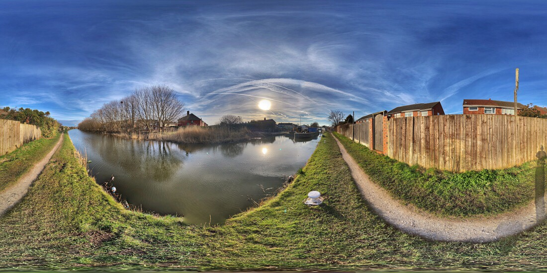 The path along the Leeds Liverpool canal in netherton, merseyside