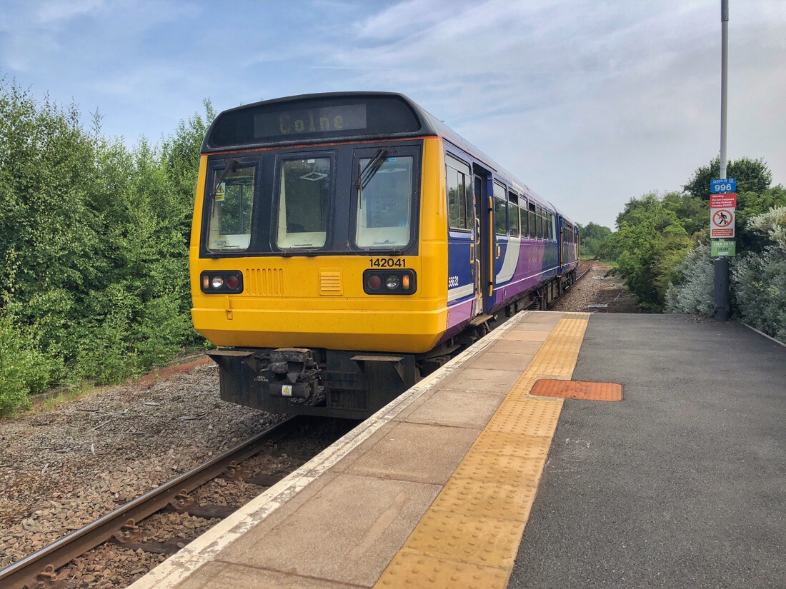Northern rail train at Ormskirt Station.