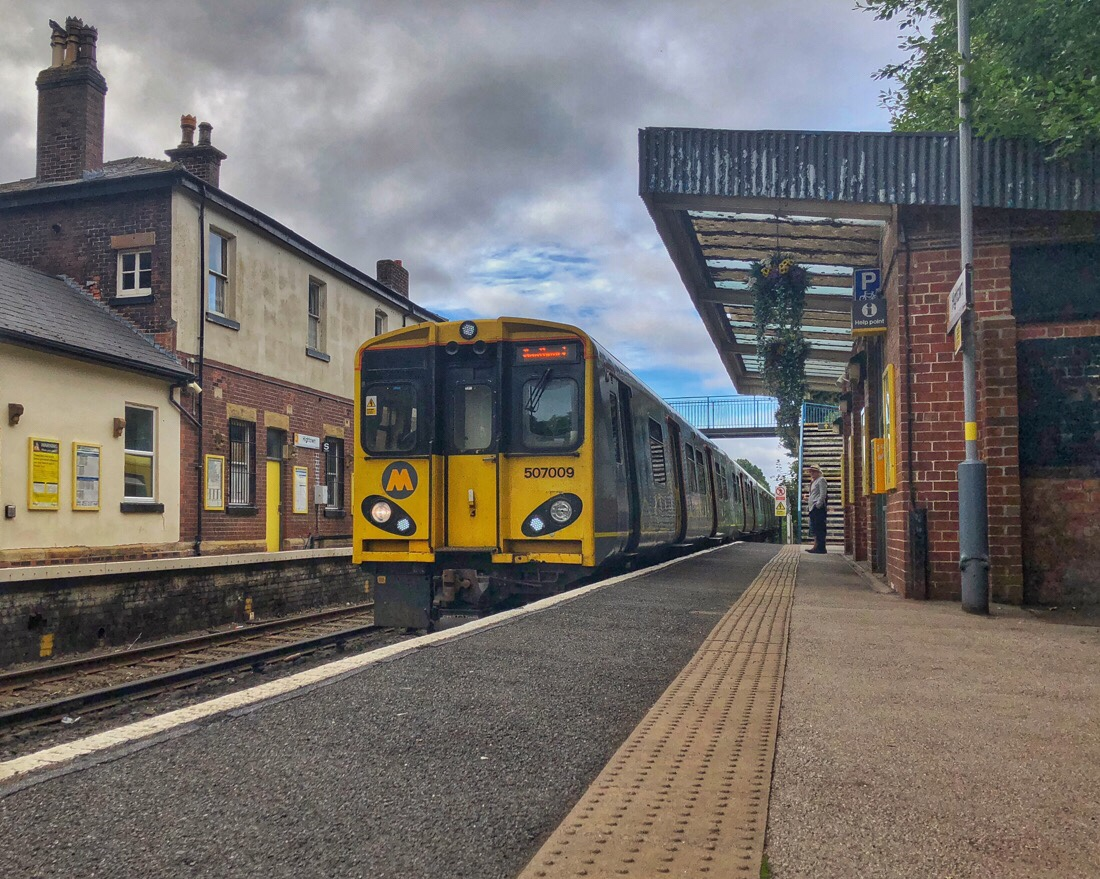 Hightown Station on the Merseyrail network